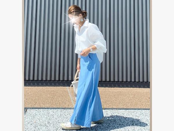 【プチプラ】梅雨のジメジメ気分を払拭! 爽やかブルーでつくるママコーデ 【AYAのプチプラ格上げコーデ Vol.4】