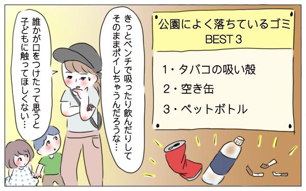 公園で落ちているゴミベスト3(グラハム子調べ)