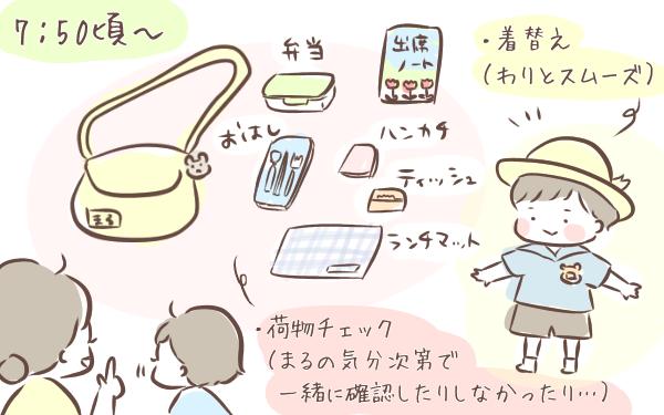 朝食、歯磨き、着替え…幼稚園年少の息子が朝出かけるまでのタイムスケジュール