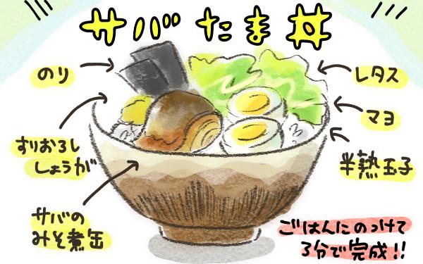 サバ缶にゆで卵で栄養もバッチリ!? ちゃんとしてる風に見える適当丼ごはん