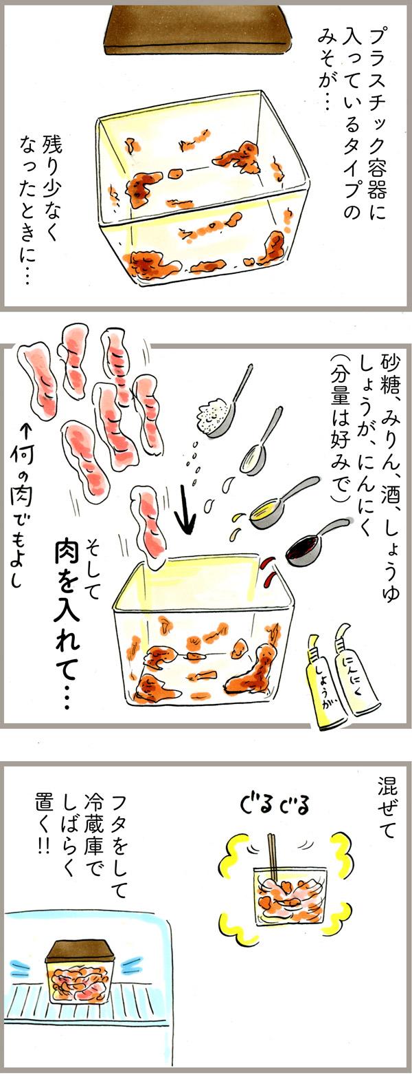 みそが中途半端に残ったときに作る、ズボラだけど合理的なレシピ。