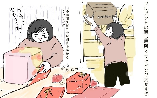 クリスマスプレゼントの隠し場所に悩む