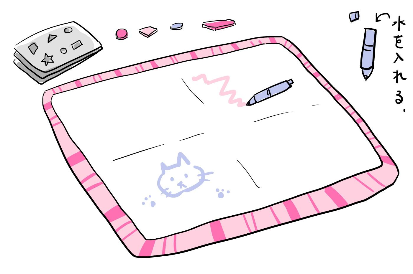子どもの落書き防止に水で描けるシート おうち時間のストレス軽減にも
