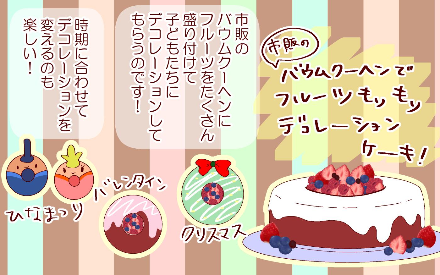 おうちで簡単に! フルーツいっぱいお手軽ケーキがバレンタインにも活躍