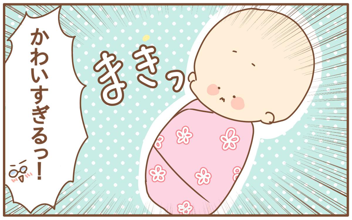おひな巻きされている赤ちゃんの姿はかわいい!