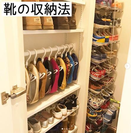 無印良品や100均を使った「靴収納アイディア」 吊るして、重ねて