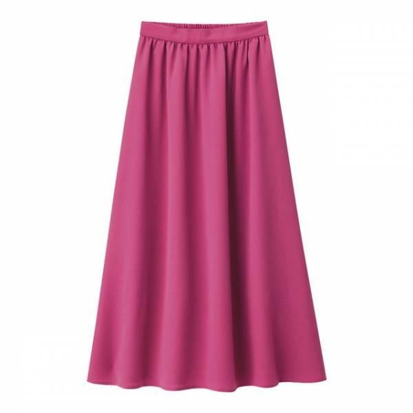 GUのサテンフレアロングスカート