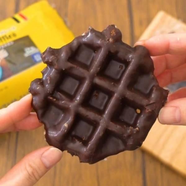 業務スーパーのベルギーワッフルチョコレート